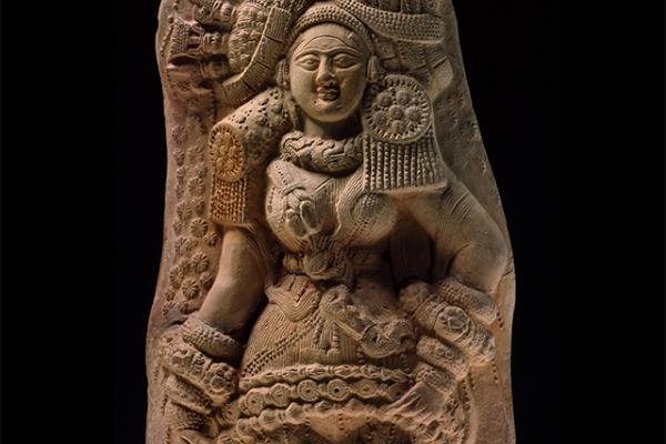 PLAQUE WITH YAKSHI (NATURE SPIRIT)