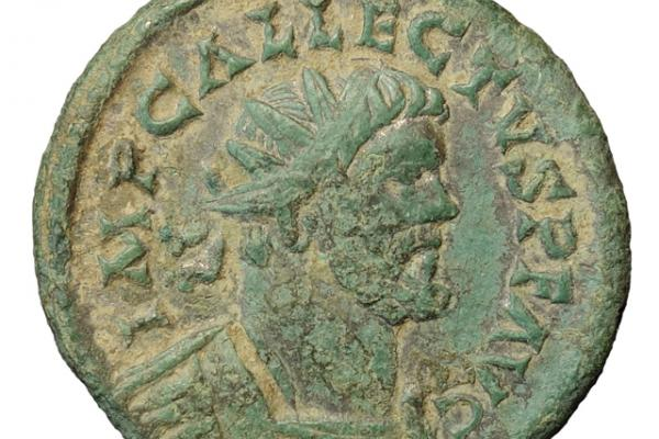 Allectus coin from the Berkshire Downs in Oxfordshire