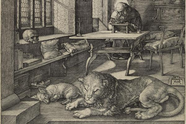 St Jerome in his Study by Albrecht Dürer, 1514