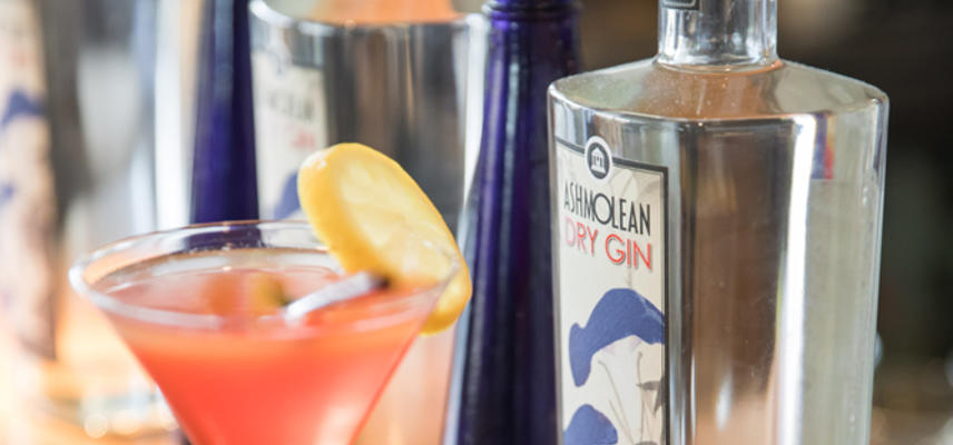 Ashmolean Dry Gin in the Dining Room