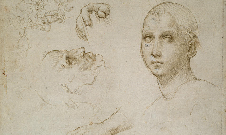 Sketches of a women and a face
