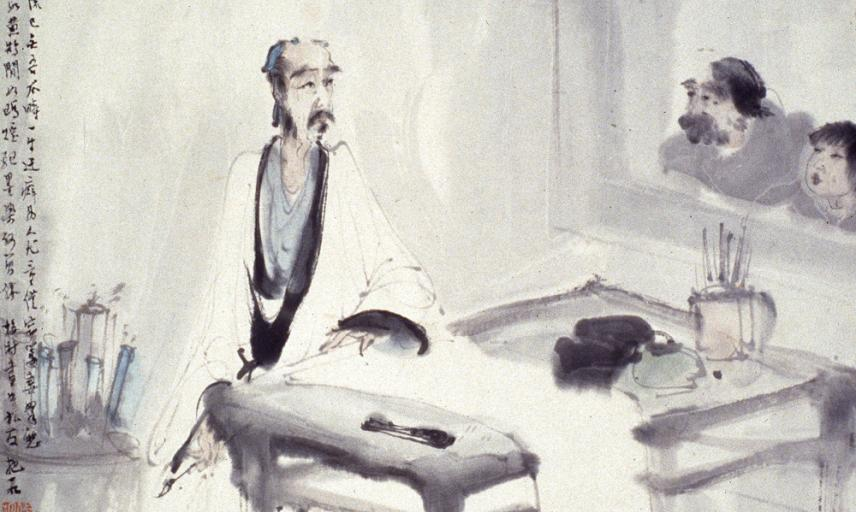 The scholar artist in his studio after Meicun Wu, Fu Baoshi (1904–1965)
