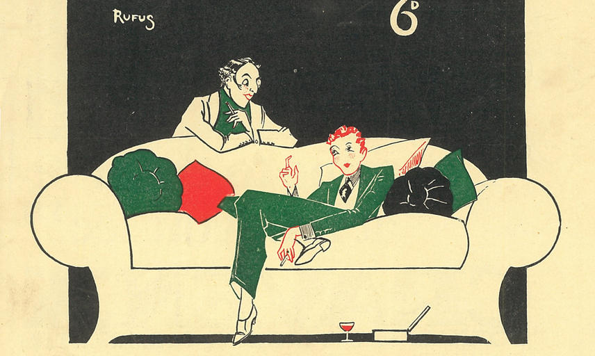 Detail from a Varsity Life cover, 2 March 1929