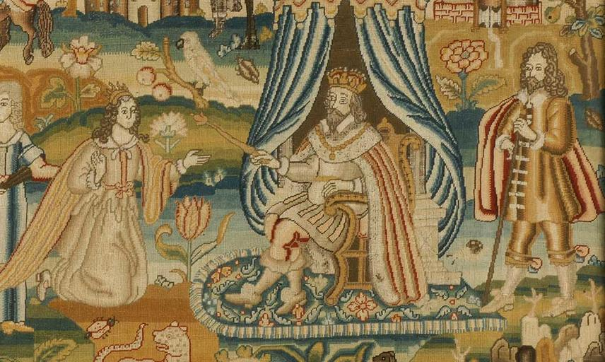 Tapestry of a Royal scene