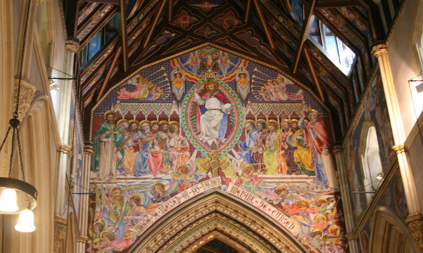 Painted interior decoration of Highnam Church