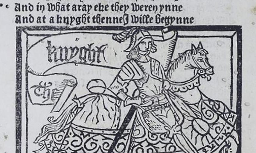 Print of a Knight on a horse