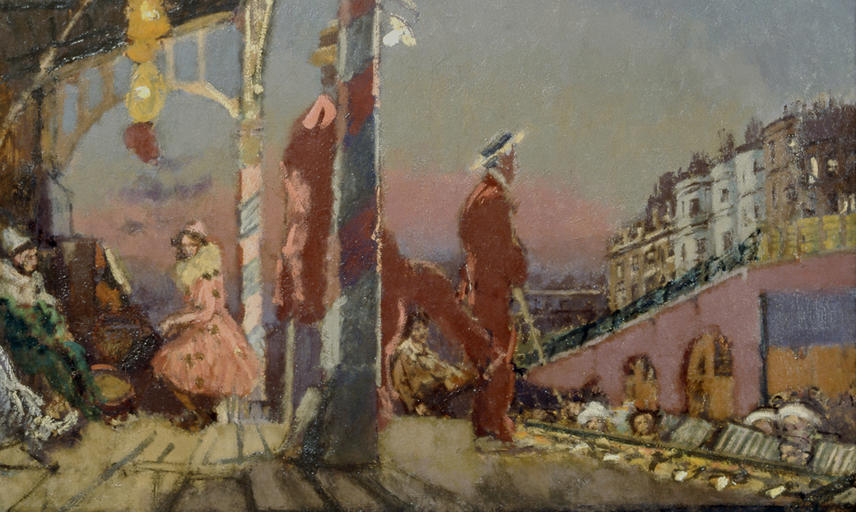 Brighton Pierrots (1915) by Walter Sickert at the Ashmolean Museum