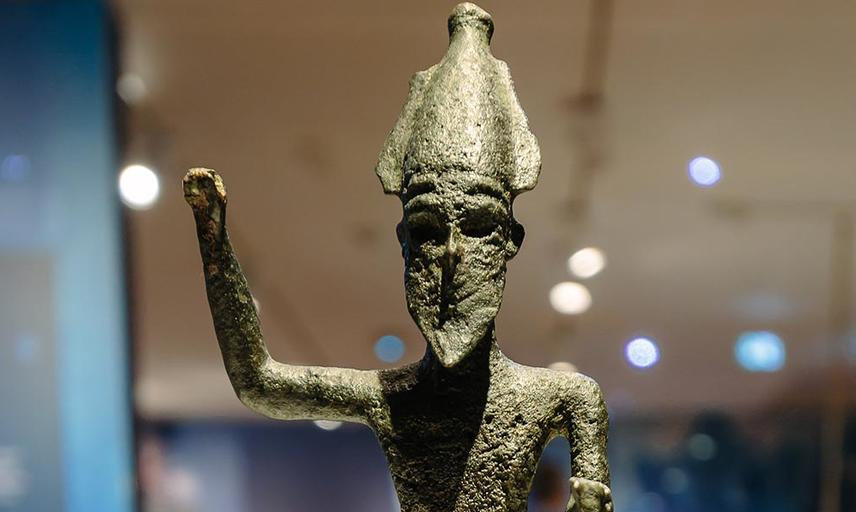 Small bronze man