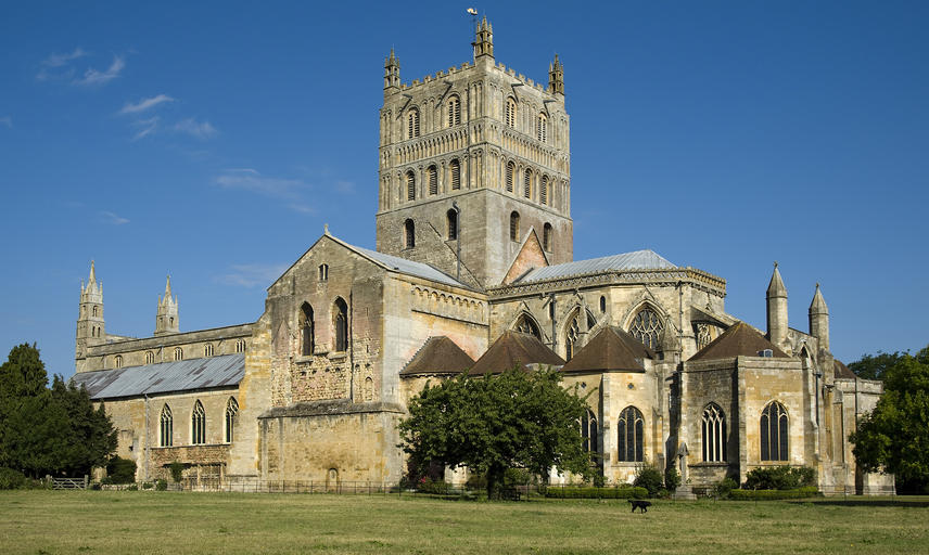 A view of Tewkesbury Abbey