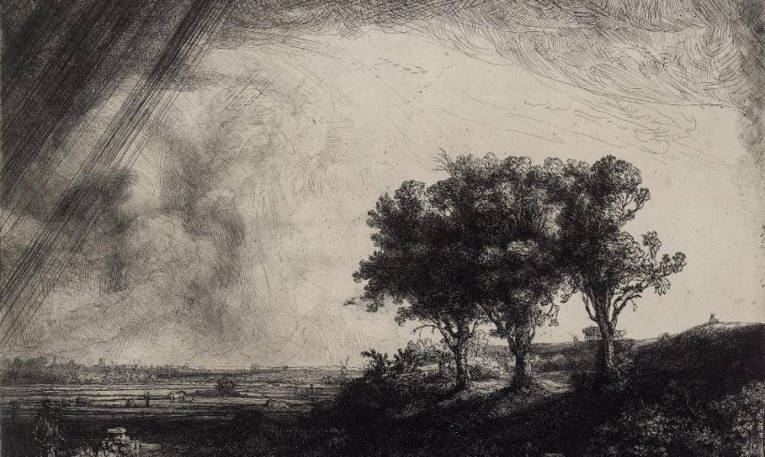 Rembrandt van Rijn, The Three Trees, 1643