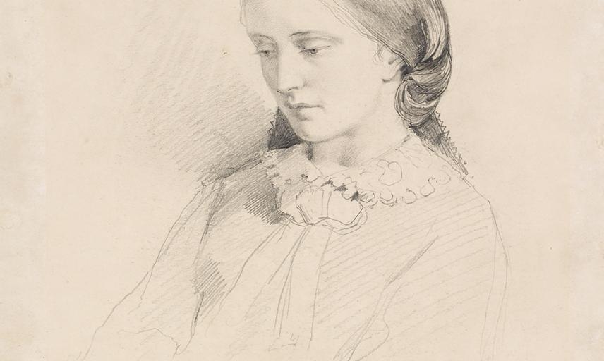 Portrait of Josephine Butler (Early Feminist Campaigner) by William Bell Scott