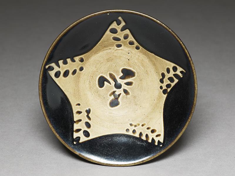 black ware bowl with stars ea1956