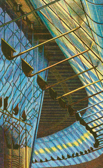 Edwina Ellis print of Waterloo station