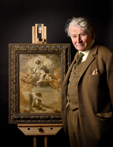 Portrait of Dr Jon Whiteley with his favourite painting