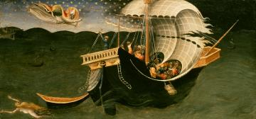 St Nicholas of Bari Rebuking the Storm by Bicci di Lorenzo (active late 1360s-1452)