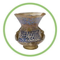 Gold and blue Islamic hanging Mosque lamp